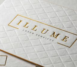 Medical Illume 1 small letterpress debossing foil colored edges scaled JCP Print Solutions