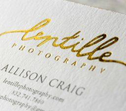 Photographer Lentile Letterpress Foil Colored Edges scaled JCP Print Solutions